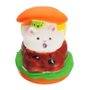 Squishy Cat Hamburger 10*8cm Slow Rising Toy With Packing Bag Gift Collection