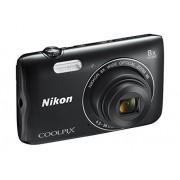 Nikon Coolpix A300 Digitale compactcamera, 20,1 megapixels, 8 x zoom, vibratiereductie, 4 K UHD filmopnames, Bluetooth, WLAN, rood, [Nital Card: 4 jaar garantie], zwart