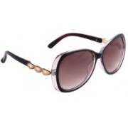 Royal Son Oval Sunglasses(Brown)