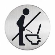 DURABLE · Hunke und Jochheim GmbH & Co. KG DURABLE Picto - Bitte setzen Hinweisschild, Hinweisschild aus hochwertigem gebürsteten Edelstahl, 1 Stück