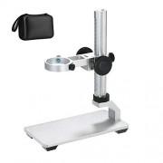 Bysameyee Soporte de Soporte de aleación de Aluminio para microscopio Digital USB/Wi-Fi, Montaje de Metal de diámetro Universal con Estuche para microscopio (Sin Luz)