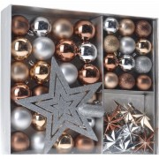 Bellatio Decorations Kerst decoratie set 45-delig brons/zilver/goud Royal Classics