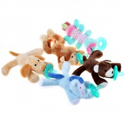 Chupon con peluche pelucho animalitos para bebe