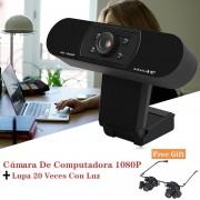 Cámara De Computadora 1080P Y Lupa 20 Veces Con Luz