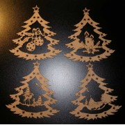 Wooden Christmas decorations set.