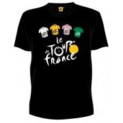 Tour De France T Shirt Heren Met Logo en Truien Zwart Maat L