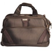Sprint 19 inch/48 cm (Expandable) Multi Purpose Duffel Strolley Bag(Brown)