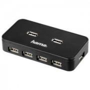 USB 7-портов хъб, вградена защита и захранване - HAMA-39859