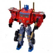 Robot transformer rosu gri tir camion