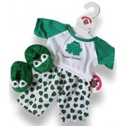 Build Your Bears Wardrobe 15-inch Clothes Fits Bear Frog Pjs Costume with Slippers