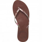 Reef Slipper Leather Uptown Luxe voor dames - Bruin, Roze