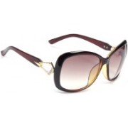 Eyeland Rectangular, Oval Sunglasses(Violet, Pink, Clear)