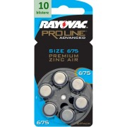 Rayovac 675 Proline Advanced Premium Zinc-Air - 10 blistere