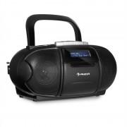 auna BeeBoy DAB Boombox Stereo Portatile Musicassette USB CD MP3 Nero