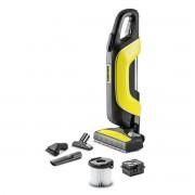 Aspirator vertical Karcher VC 5 Premium Cordless *EU 13493500, 25.2 V, autonomie 60 de min., Filtru HEPA, Tub de aspirare telescopic, Negru/Galben