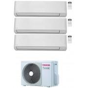 Toshiba Seiya Condizionatore Trial Split 7000+12000+16000 7+12+16 Btu Inverter R32 Ras-3m26u2avg-E A++