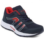 Feet Culture Men's Red Mesh Running Sports Shoes