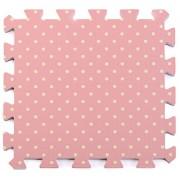VIAHART CuteMat Printed Pattern Mat | Set of 9 Tiles | Each tile is 1 sqft 12 in x 12 in x .5 in | Pink