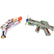 Combo Of Musical lazer sound space gun for kids (Multicolor)