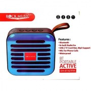Rock Music RM-BT427FM Bluetooth Portable Speaker With Built in Mic FM USB TF card slot with MP3 Support and 3.5mm Jack