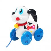 Funblasttm Dog Puppy Toy With Music And Light Training Teach Pull Along Baby Activity Walker Toy - Multi Color