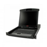 APC 17 Rack LCD Console with Integrated 8 Port Analog KVM Switch APC-AP5808