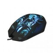 Мишка VCom DM416, оптична(2400 dpi), USB, LED поцветка, черна