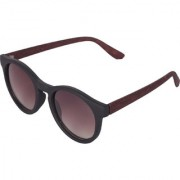 Ivy Vacker Brown Oval Wooden Sunglass for Men