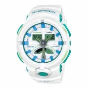 casio g-shock GA-500WG-7A reloj deportivo con resistencia al agua de 200 metros - blanco + azul + verde