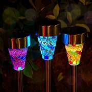 3 db Kerti napelemes LED világítás mozaik szett