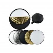 """Reflector De Luz Plegable 24 """"60 Cm 5 En 1 Estudio De Fotografía Portátil Para Usted"""