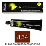 Loreal INOA 8,34 Rubio Claro Dorado Cobrizo - tinte 60grs