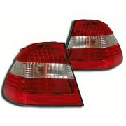Stopuri cu LED BMW Seria 3 Sedan E46 98-00 clar/rosu