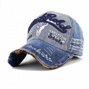 DaTeen Black Rebel Blue Baseball Cap for Men/Boy Snapback Caps Distressed Wearing Adjustable Hat