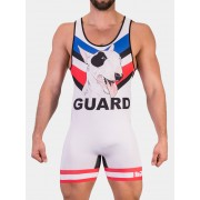 Barcode Berlin Wild Guard Singlet Bodysuit White/Black/Royal 91474-260