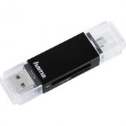 Четец за карти HAMA 181056, USB 2.0, SD/microSD, черен
