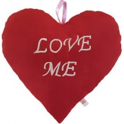 Ultra Valentine Heart Shape Love Me Red Cushion Pillow