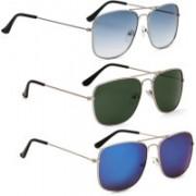 Phenomenal Retro Square Sunglasses(Blue, Green)