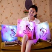 Cute Rilakkuma Plush Pillow Toys with Led Light Glow in Dark Children Kids Night Light Toys Birthday Gift