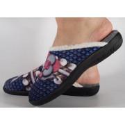 Papuci de casa bleumarin din plus dama/dame/femei (cod 115109)