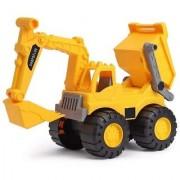 JCB + Dumper Toy Construction Friction Power Rev-Up.small size (Multicolor)