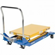 Vestil Manual Scissor Cart - 1,500-lb. Capacity, 36 Inch L x 24 Inch W Platform, Model CART-23-15-M, Yellow