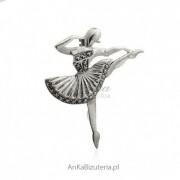 ankabizuteria.pl Broszka srebrna baletnica z marakzytami