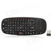 K10-D del raton 2.4GHz Wireless Optical Mini German Keyboard / Air for Laptops + Mas - Negro