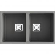 Poalgi - Lava-louças de 2 pias Concret 75 x 45 cm Zie Poalgi