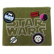 Disney star wars portemonnee groen 13 x 9 cm