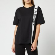Love Moschino Women's Tape Logo T-Shirt - Black - IT 42/UK 10 - Black