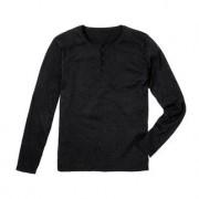 Pima-Cotton Henley-Shirt, 54 - Schwarz