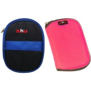 Sky Hard Disk Pouch Combo Dark Blue With Pink