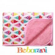 Двулицево одеяло розово Babyono